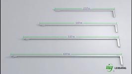 Elektrische Teleskop-Vorhangschiene/ Curtain Rod