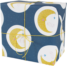 "Wrapping Paper ""Moon"" (3 sheets)"