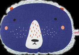 """Mini-Cushion """"Bear"""", blue"""