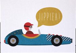 """Postcard """"Racing Car"""""""