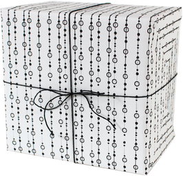 """Wrapping Paper """"Pearls"""", white (3 sheeets)"""