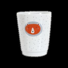 """Porcelain Mug """"Bear"""" red"""