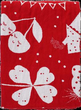 Linen/Cotton Blanket, red (70x100 cm)