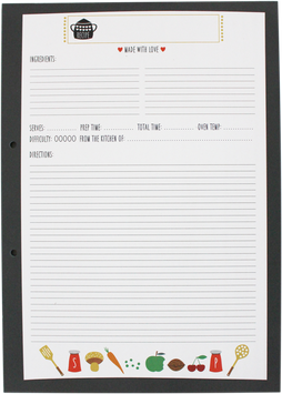 Recipe Pad, DIN A4 (50 sheet)