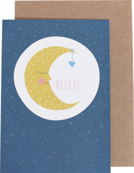 "Greeting Card ""Moon"""