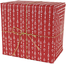 "Wrapping Paper ""Pearls"", red (3 sheets)"