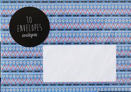 "Envelopes ""Pattern"" (set of 10)"