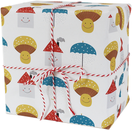 "Wrapping Paper ""House/Umbrella (3 Sheets)"