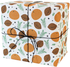 "Wrapping Paper ""Mandarin"",white (3 sheets)"