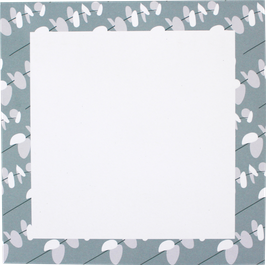 Writing Pad Little Leafs, light blue/grey, 14,8 x 14,8 cm (50 sheets)