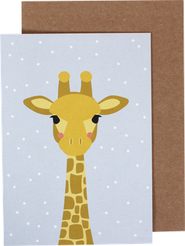 Greeting Card Baby Giraffe (without text)