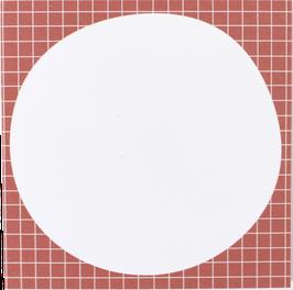 Writing Pad Squared, salmon/white, 9.8 x 9,8 cm (50 sheets)