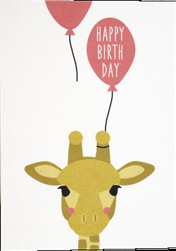 "Postcard Giraffe ""Happy Birthday"""