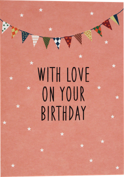 "Postcard ""With Love on your birthday"""