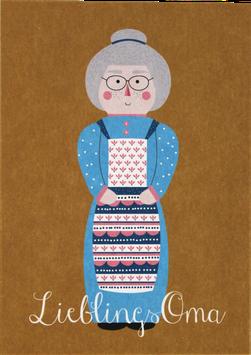 """Postcard """"Favourite Grandma"""""""