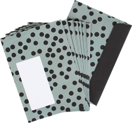 """Envelopes """"Dots"""", sage green (set of 10)"""