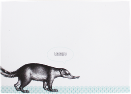 "Writing Pad ""Anteater"" DIN A6 (50 sheets)"
