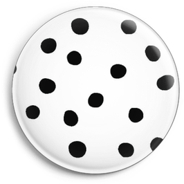 Magnet white with black dots (Ø 32 mm)