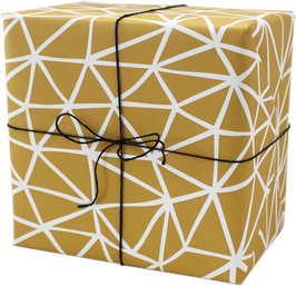 """Wrapping Paper """"Mountains"""", yellow (3 sheets)"""