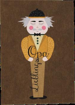 """Postcard """"Favourite Grandpa"""""""