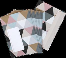 "Envelopes ""Triangles""  (set of 10)"