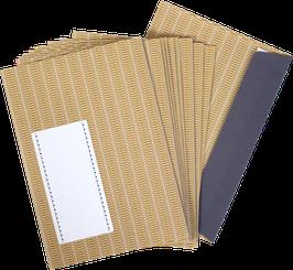"Envelopes ""ochre""  (set of 10)"