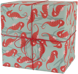 Wrapping Paper Sea Horses (3 sheets)
