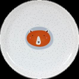 """Porcelain Plate """"Bear"""", red"""