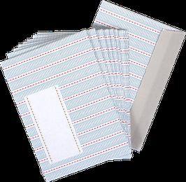 """Envelopes """"red/blue""""  (set of 10)"""