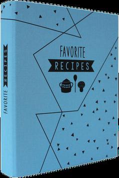 "Linen Folder ""Favorite Recipes"" (A4) incl. dividers"
