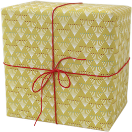 """Wrapping Paper """"Bunch"""" yellow  (3 sheets)"""