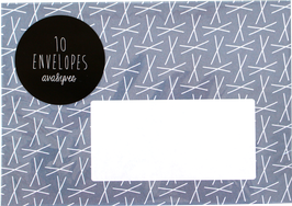 """Envelopes """"XXX"""", blue (set of 10)"""