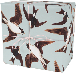 "Wrapping Paper ""Swallows"" (3 sheets)"