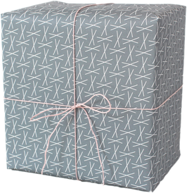 Wrapping Paper XXX blue (3 sheets)