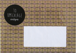 """Envelopes """"ochre/nude (set of 10)"""