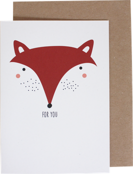 Greeting Card Fox - For You