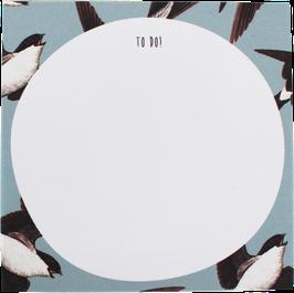"""Writing Pad """"Swallows"""" 9,8 x 9,8 cm (50 sheets)"""