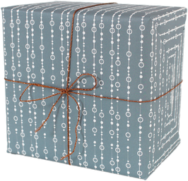 """Wrapping Paper """"Pearls"""", blue (3 sheets)"""