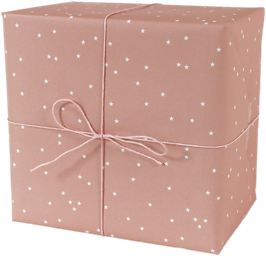 """Wrapping Paper """"Stars"""", salmon (3 sheets)"""
