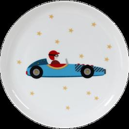 "Porcelain Plate ""Racing Car"""