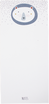 "Writing Pad ""Bear"", white DIN long (50 sheets)"