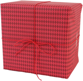 "Wrapping Paper ""Rhombus"", red (3 sheets)"