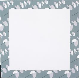Writing Pad Little Leafs, light blue/grey, 14,8 x 14,8 cm (50 sheets)
