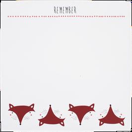 """Writing Pad """"Fox"""", 14,8 x 14,8 cm (50 sheets)"""