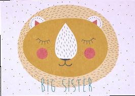 "Postcard Lion ""Big Sister"""