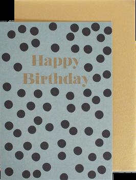 """Folded Card """"Dots"""" - Happy Birthday"""
