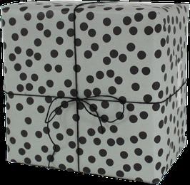 "Wrapping Paper ""Dots"", sage green (3 sheets)"