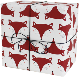 "Wrapping Paper ""Fox"" (3 sheets)"