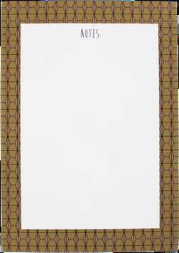 """Writing Pad """"hexagon"""" nude, A5 (50 sheet)"""