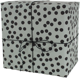 "Wrapping Paper ""Dots"", sage green (3 sheets)"